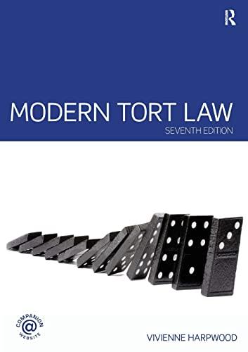 9780415458467: Modern Tort Law (Volume 2)