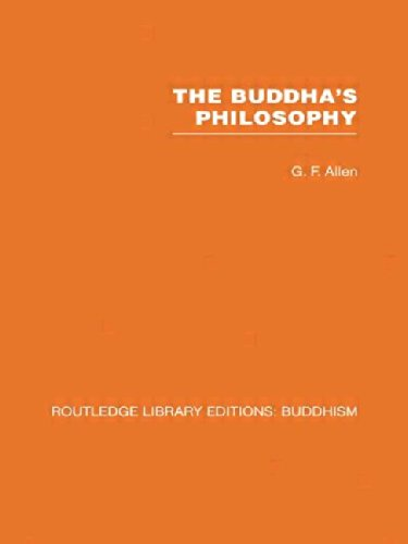 9780415460880: The Buddha's Philosophy: Selections from the Pali Canon and an Introductory Essay: Volume 1 (Routledge Library Editions: Buddhism)