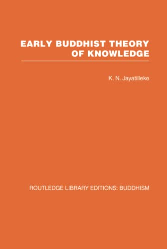 9780415461078: RLE: Buddhism (20 vols): Early Buddhist Theory of Knowledge (Volume 6)