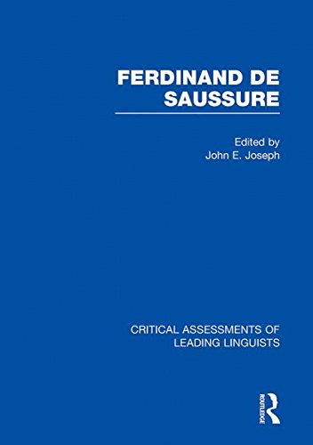 9780415465496: Ferdinand de Saussure: v. 3 (Critical Assessments of Leading Linguists)