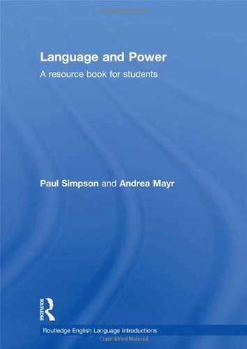 9780415468992: Language and Power: A Resource Book for Students (Routledge English Language Introductions)
