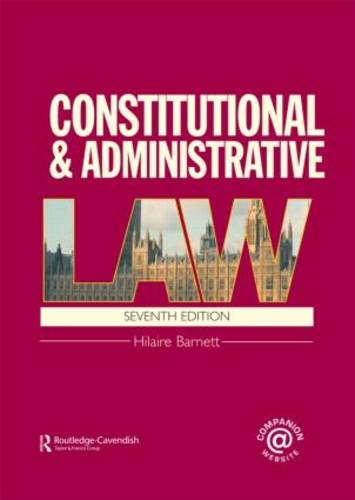 9780415473125: Constitutional & Administrative Law: (London External Edition)