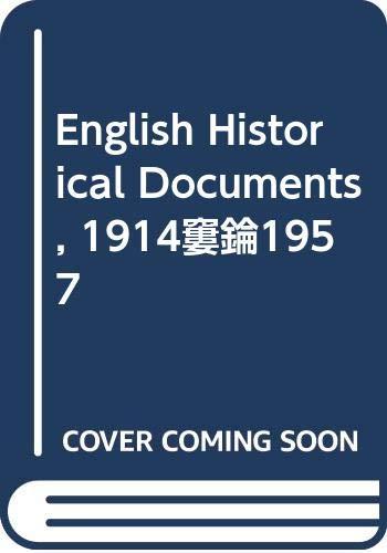 9780415476034: English Historical Documents, 1914–1957