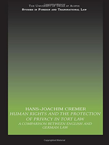 9780415477048: Human Rights and the Protection of Privacy in Tort Law: A Comparison between English and German Law (UT Austin Studies in Foreign and Transnational Law)
