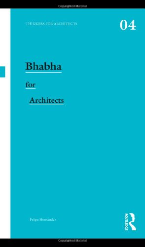 9780415477468: Bhabha for Architects (Thinkers for Architects)