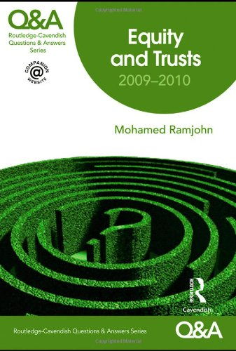 9780415480406: Q&A Equity and Trusts 2009-2010 (Questions and Answers)