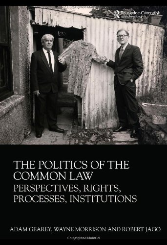9780415481533: The Politics of the Common Law: Perspectives, Rights, Processes, Institutions