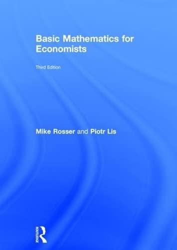 9780415485913: Basic Mathematics for Economists