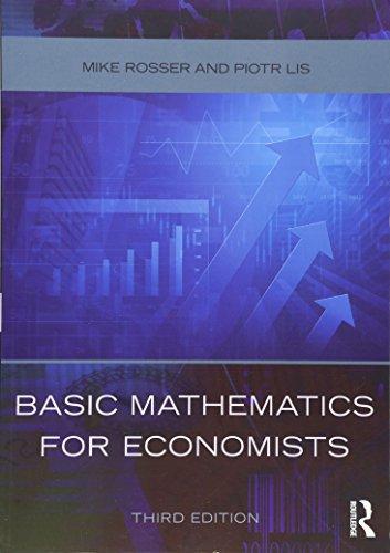 9780415485920: Basic Mathematics for Economists