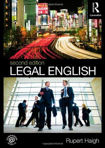 9780415487153: Legal English