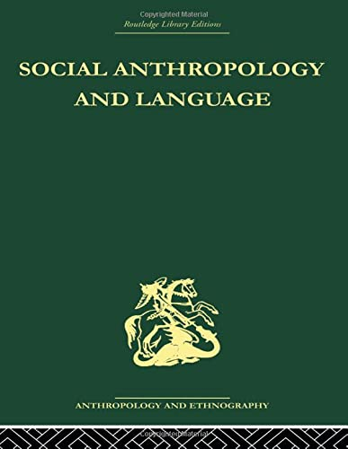 9780415489096: Social Anthropology and Language