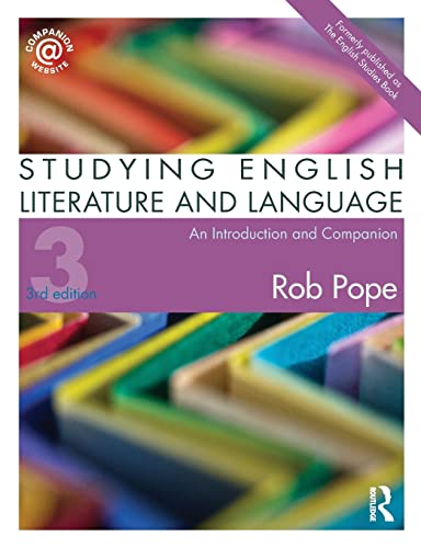 9780415498760: Studying English Literature and Language: An Introduction and Companion