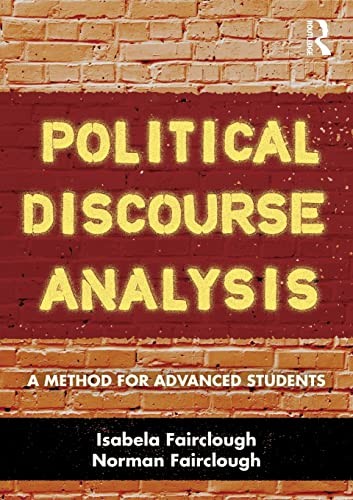 9780415499231: Political Discourse Analysis: A Method for Advanced Students