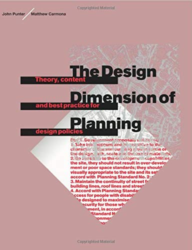 The Design Dimension of Planning: CARMONA, MATTHEW; PUNTER,