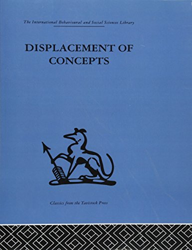 9780415513906: Displacement of Concepts (The International Behavioral and Social Science Library: Psychology)