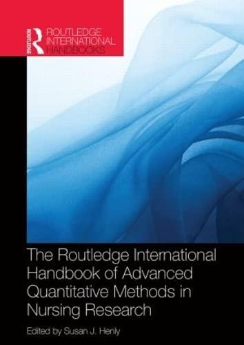 9780415521802: Routledge International Handbook of Advanced Quantitative Methods in Nursing Research