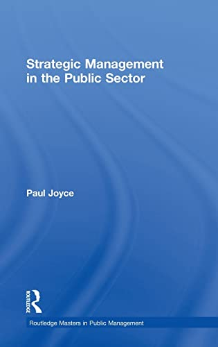 9780415527620: Strategic Management in the Public Sector (Routledge Masters in Public Management)