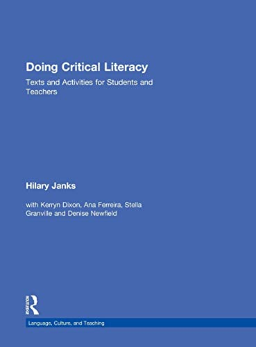9780415528092: Doing Critical Literacy: Texts and Activities for Students and Teachers (Language, Culture, and Teaching Series)