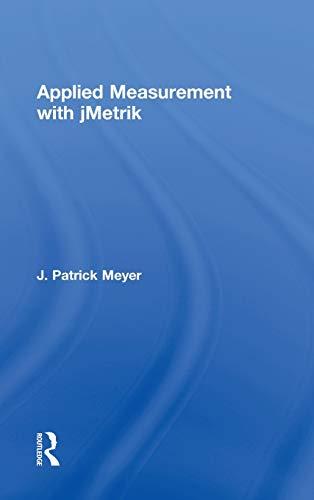 9780415531955: Applied Measurement with jMetrik