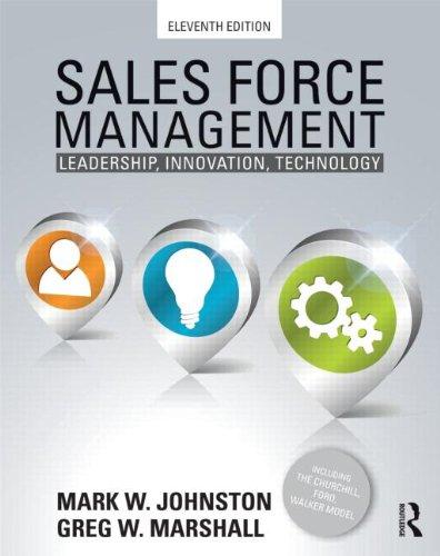 Sales Force Management: Leadership, Innovation, Technology -: Marshall, Greg W.;