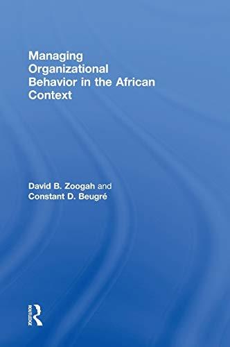 9780415535922: Managing Organizational Behavior in the African Context