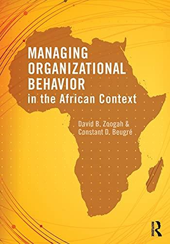 9780415535939: Managing Organizational Behavior in the African Context