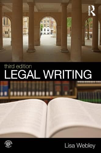 9780415538909: Legal Writing (Volume 2)