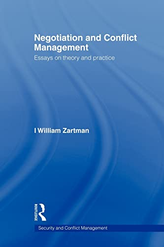 9780415545297: Negotiation and Conflict Management: Essays on Theory and Practice (Security and Conflict Management)