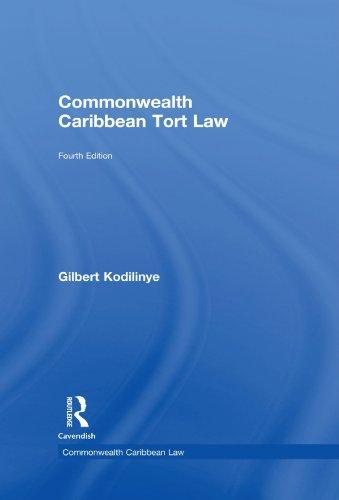 9780415545785: Commonwealth Caribbean Tort Law (Commonwealth Caribbean Law)