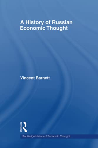 9780415547666: A History of Russian Economic Thought (Routledge History of Economic Thought)