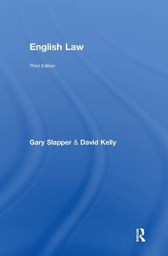 9780415550918: English Law