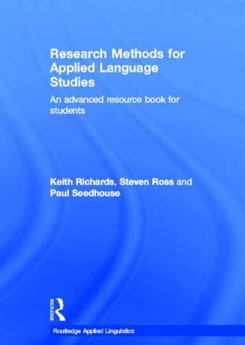 9780415551403: Research Methods for Applied Language Studies: An Advanced Resource Book for Students (Routledge Applied Linguistics)