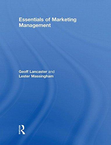 9780415553469: Essentials of Marketing Management