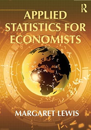 9780415554688: Applied Statistics for Economists