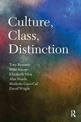 9780415560771: Culture, Class, Distinction (Cresc)