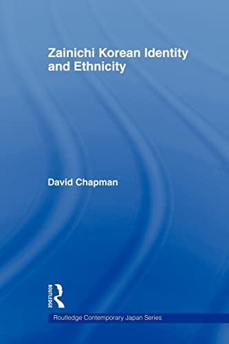 9780415561105: Zainichi Korean Identity and Ethnicity (Routledge Contemporary Japan)