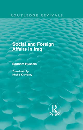 9780415562409: Social and Foreign Affairs in Iraq (Routledge Revivals) (Volume 12)