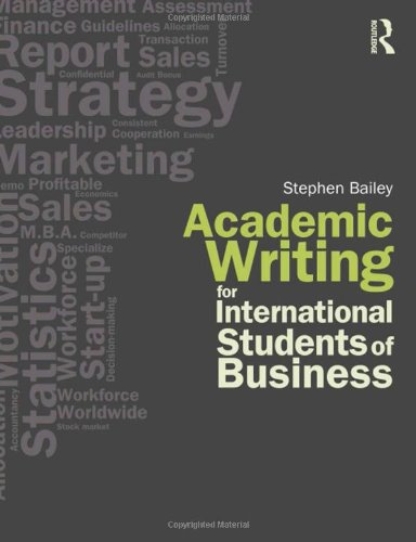 9780415564700: Academic Writing for International Students of Business