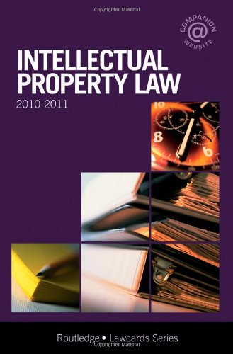 9780415565387: Intellectual Property Lawcards 2010-2011