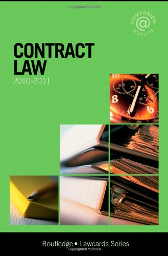 Contract Lawcards 2010-2011: Routledge