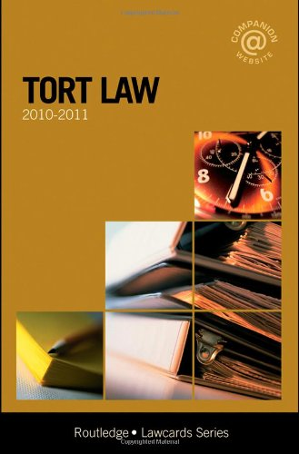 Tort Lawcards 2010-2011: Routledge