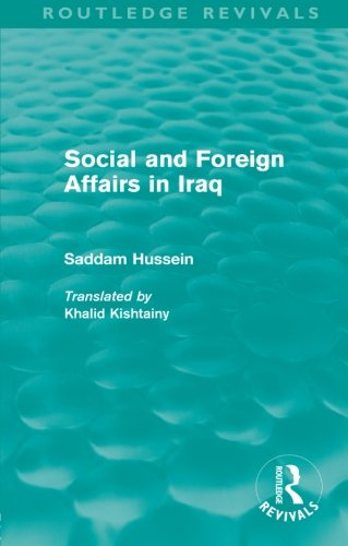 9780415567985: Social and Foreign Affairs in Iraq (Routledge Revivals)