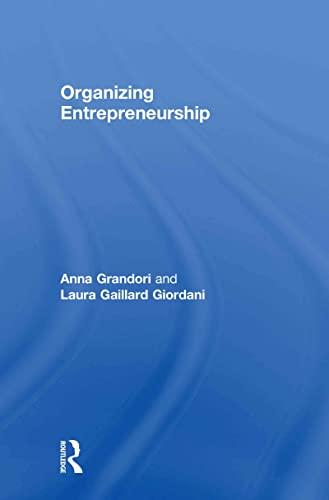 9780415570374: Organizing Entrepreneurship