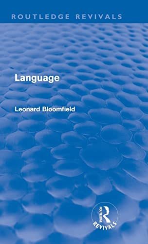 9780415576826: Language (Routledge Revivals)