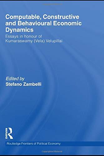 9780415583251: Computable, Constructive and Behavioural Economic Dynamics: Essays in Honour of Kumaraswamy (Vela) Velupillai
