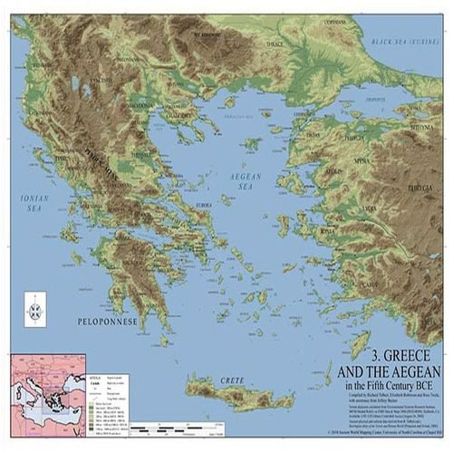 9780415584418: Greece and the Aegean in the 5th Century BCE: Routledge Wall Maps for the Ancient World (Volume 4)