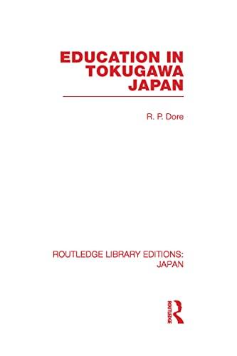 9780415587594: Education in Tokugawa Japan, Vol. 33