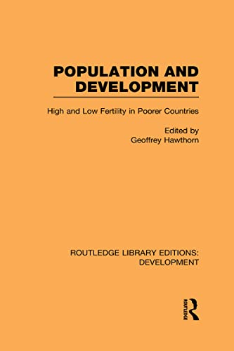 9780415592833: Population and Development: High and Low Fertility in Poorer Countries