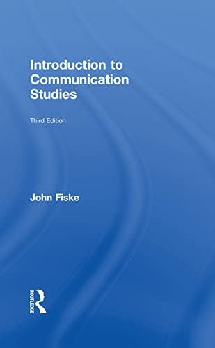 9780415596480: Introduction to Communication Studies (Studies in Culture and Communication) (Volume 1)