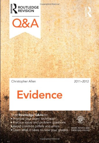9780415598309: Q&A Evidence 2011-2012 (Questions and Answers)